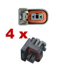 Pluggen injectoren - DELPHI (4 x FEMALE) connector plug verstuiver injectie auto