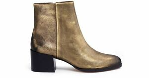 e1be4157e48b Image is loading NEW-Sam-Edelman-Metallic-Leather-Joey-Leather-Ankle-