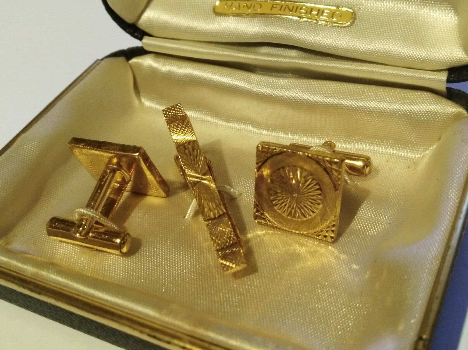 Anthony Royale Cufflinks and Tie Bar Gold Vintage