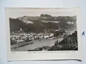 Carte Postale Vue Carte, Saxe Suisse, Bad Schandau A. Elbe Et Couverte-afficher Le Titre D'origine Par Processus Scientifique