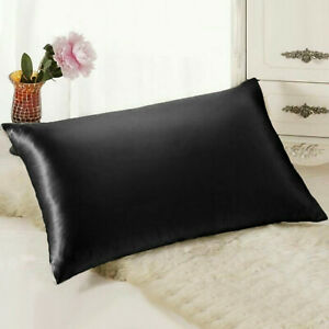 Mulberry-Silk-Like-Pillowcase-Pillow-Case-Cover-Bedroom-Housewife-Queen-Standard