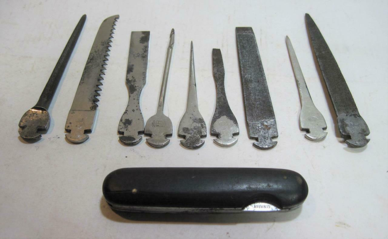 Vintage WWII D. Peres  Solingen German Multi Tool 10pc Set  70% off cheap