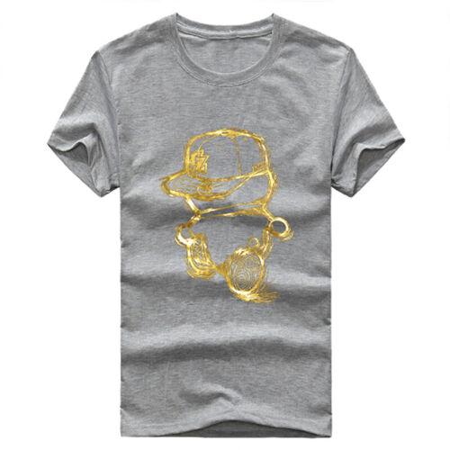 Men/'s Cotton T-Shirt Short Sleeve Summer Tops Big Size S-5XL  VQ