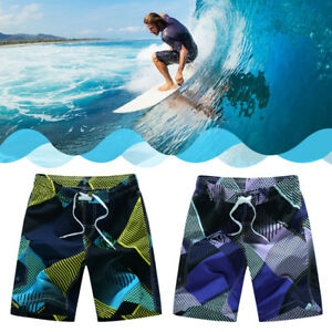 Fashion Mens' Summer Boardshorts Beach Casual Shorts Geometric Printed Swimsuit