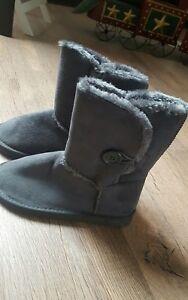 new concept 138ca 0c401 Details zu * Damen Mädchen Winterboots Boots Stiefel grau Fell Herbst  Winter 37 NEU