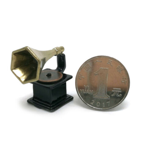 Retro Phonograph Record Dollhouse Miniature 1:12 Furniture Mini House DIY Toy