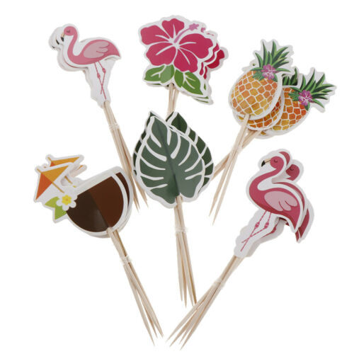24Pcs Hawaiian Cupcake Topper Graduation Party Decor Graduation Cake Flag