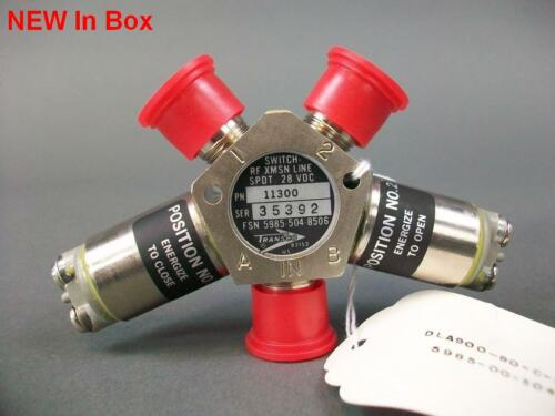 New Transco COAXIAL RF Switch 11300 28VDC US Military Grade FSN 5985-504-8506