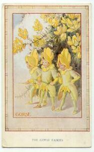 The-Gorse-Fairies-Margaret-W-Tarrant-Painting-Postcard