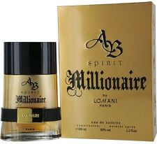 AB Spirit Millionaire by Lomani Eau De Toilette Men's Spray Cologne 3.3 oz