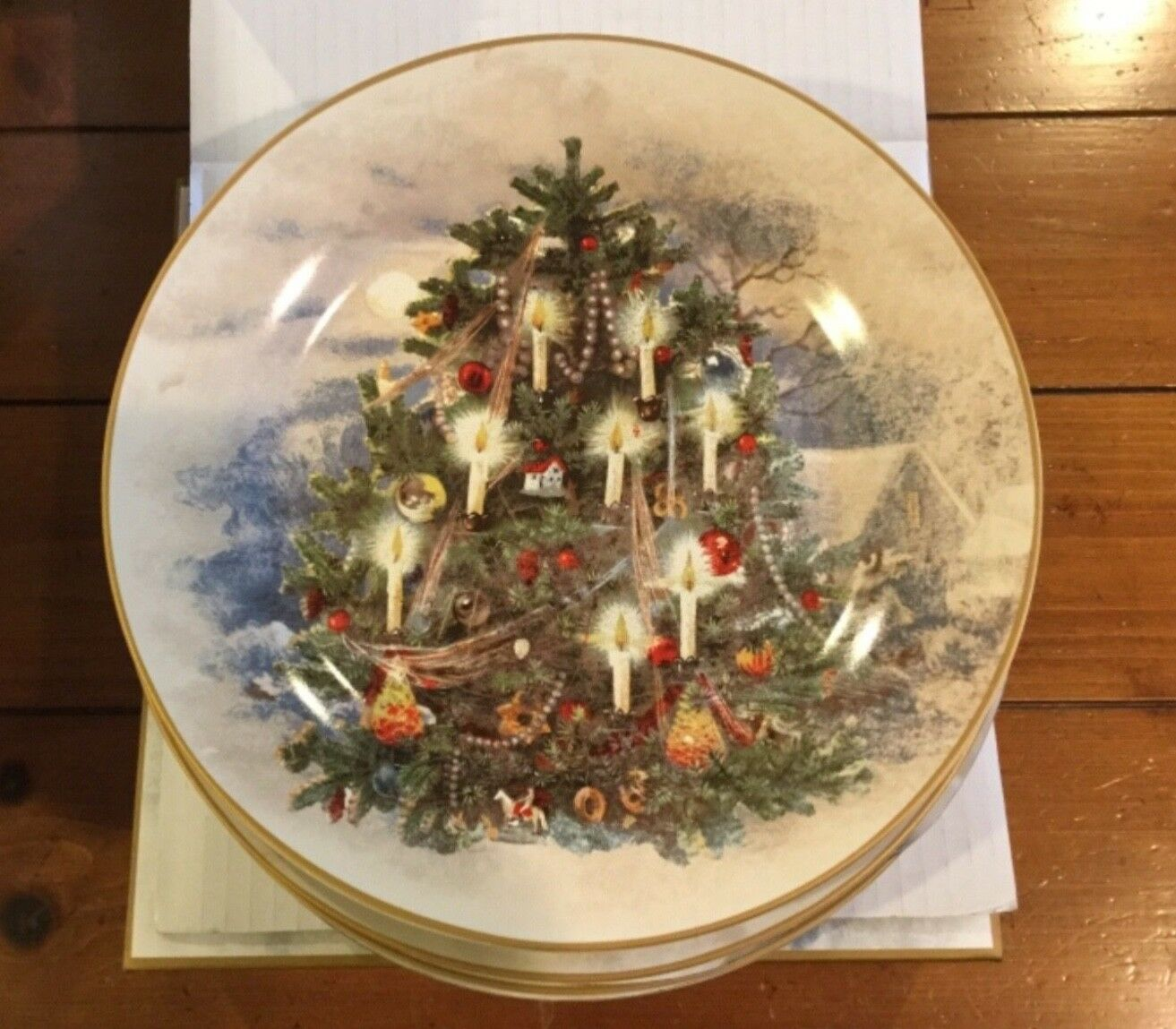 Pottery Barn Nostalgic Tree assiettes 2 jeux... 8 plaques new in box