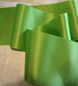 4-034-WIDE-SWISS-DOUBLE-FACE-SATIN-RIBBON-LIME-GREEN