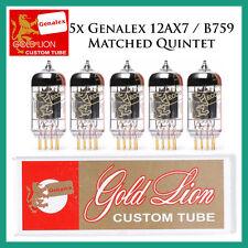 New 5x Genalex Gold Lion 12AX7 / ECC83 | Matched Quintet / Five Tubes