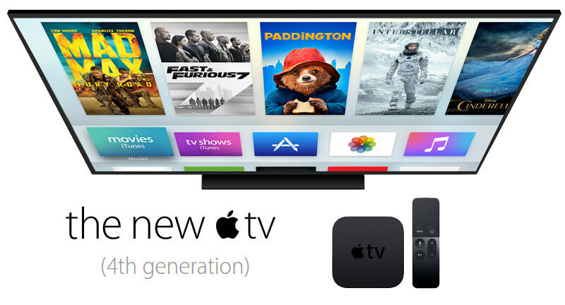 New  Apple TV 4th Generation 64GB Digital HD Media Streamer Latest Model Gen 4