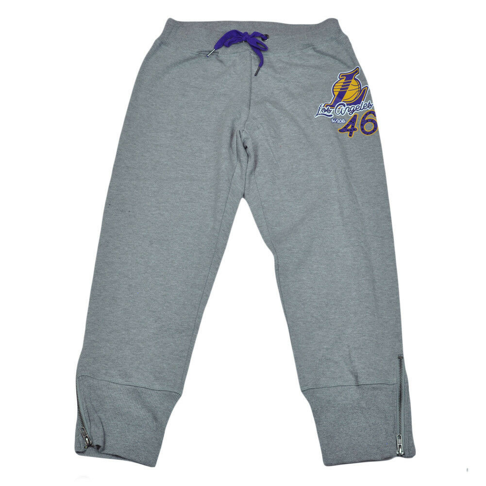 NBA Unk Los Los Los Angeles Lakers Damen Strass Capri Jogginghose Reißverschluss 4cabe0