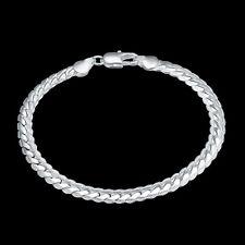 Genuine Unisex 5 MM Bracelet S/F Hallmarked 925 Sterling Silver Ladies & Men