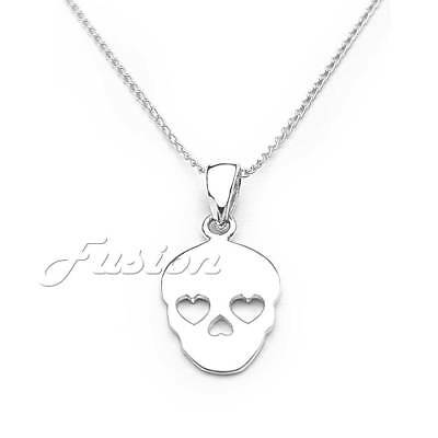 Solid .925 Sterling Silver Key Pendant Charm Necklace /& Curb Chain P016