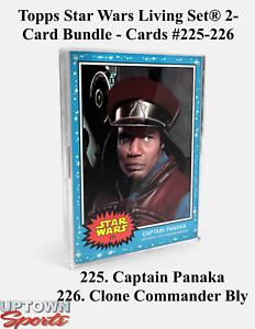 Topps Star Wars Living Set 2-Card Bundle Cards 225-226 -Captain Panaka - BLY