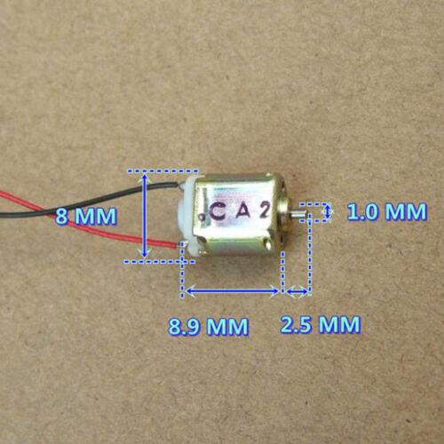FK10B Micro 8mm DC 3V 44000RPM High Speed Ultra Mini K10 Electric DC Toy Motor