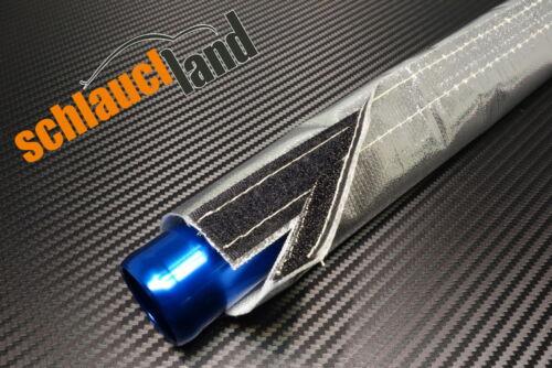 1m IN ALLUMINIO-TITANIO Calore Protezione Tubo ID 25mm *** chiusura in velcro Heat Sleeve