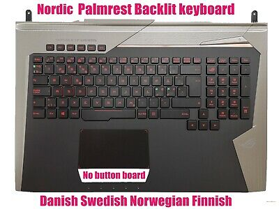 UK backlit keyboard for Asus ROG G752 G752VT G752VY G752VS G752VM G752VSK