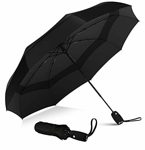 Windproof Travel Umbrella - Compact, Light, Automatic, Strong and Portable -