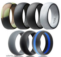 Ring Wedding Sport Band Men Silicone Engagement Active Gym Work Fashion Gift Set