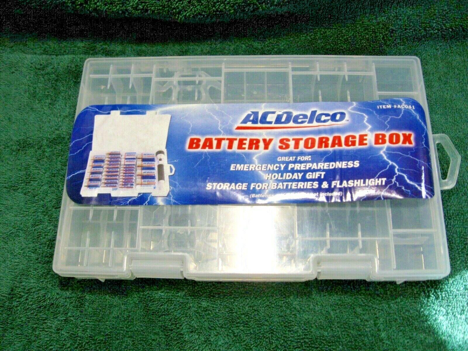 Ac Delco Nos Battery Storage Box Emergency Get Organized Camper Rv Hunting Home Ebay