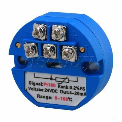 10pcs Plastic PT100 DC24V Temperature Sensor Transmitter 0-10V Output 0-150C