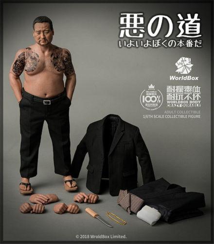 WorldBox 1 6 AT026 Japanese Organized Crime Member Model F 12 Male Figure Body