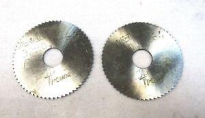 2x-Metal-DISCO-SIERRA-CIRCULAR-HSS-32-X-0-8-x-64-x-8-von-werko-NUEVO-A4074