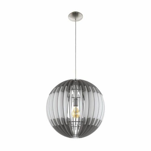 Hängeleuchte Lamellenlampe OLMERO Ø 70cm dimmbar in grau weiss