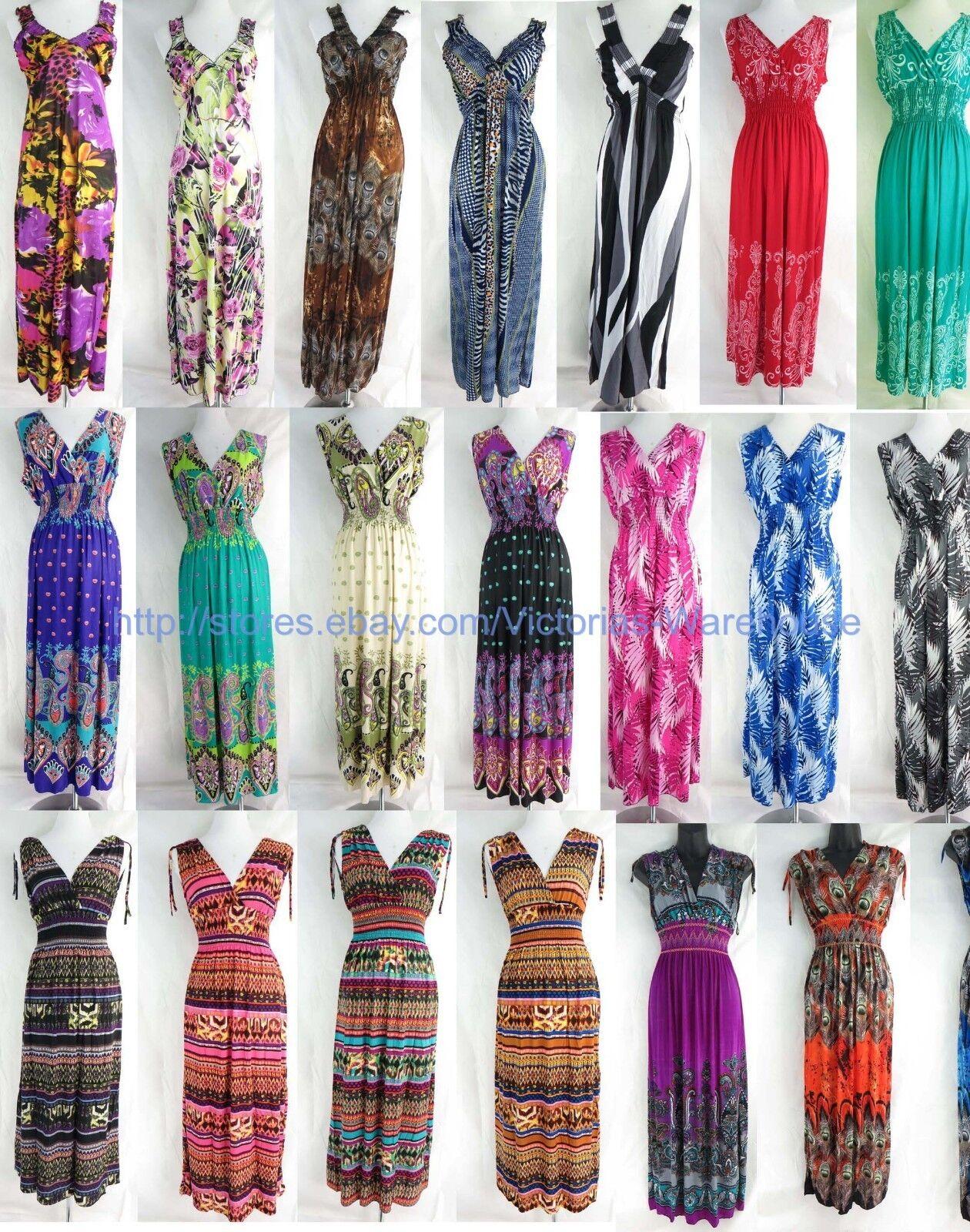 Wholesale lot of 10  Evening Summer Sexy Women Long Maxi sundress beach dresses