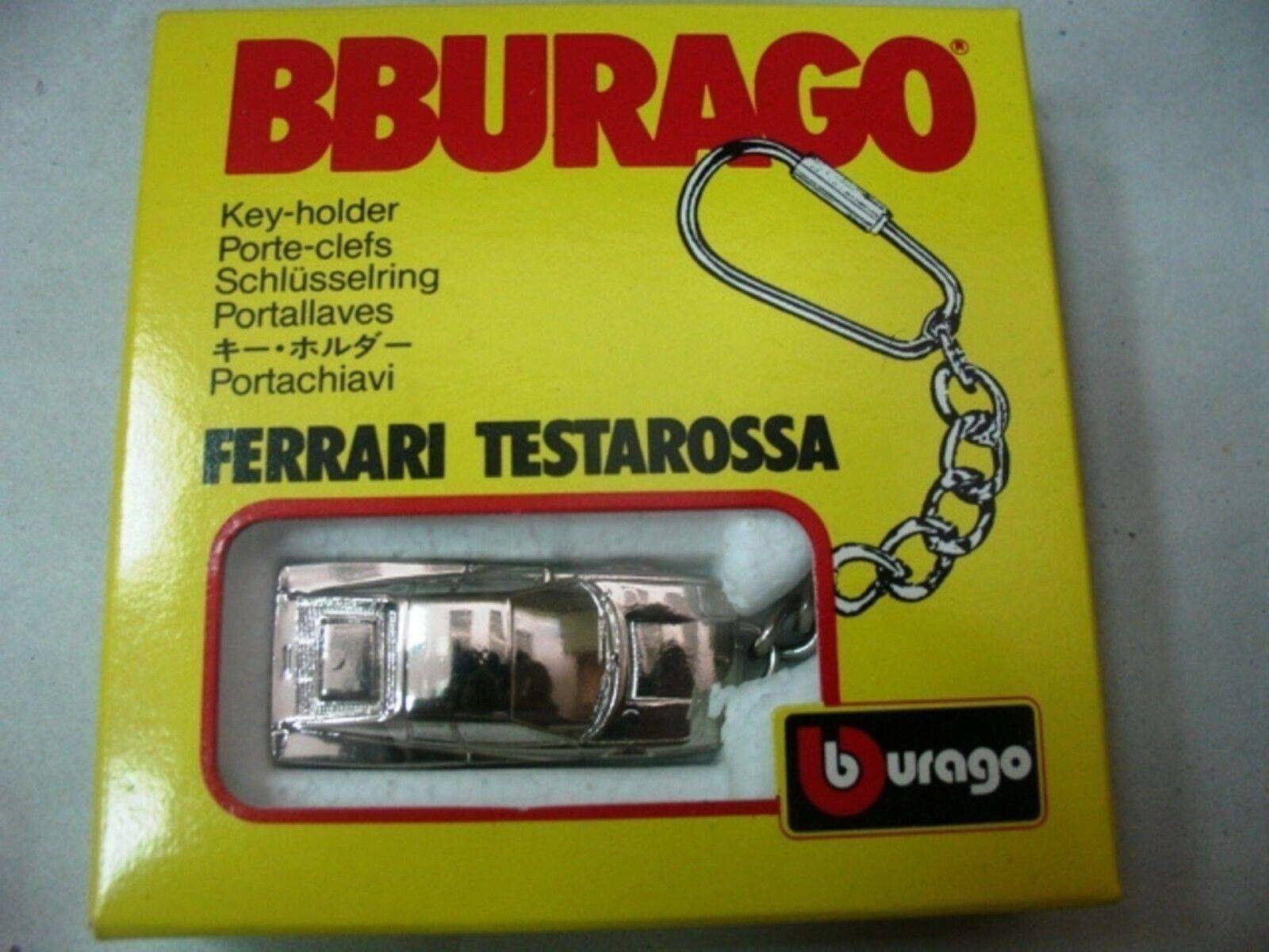 WOW EXTREMELY RARE Keyring Ferrari Testarossa Chrome Plated  1 87 Burago