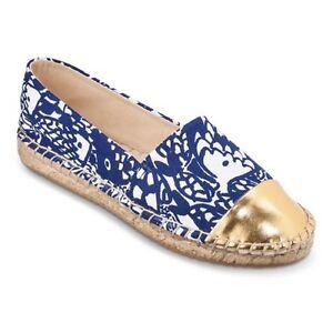 e0931697b2a77e NEW! Lilly Pulitzer for Target Espadrilles Flats shoes Upstream BLUE ...