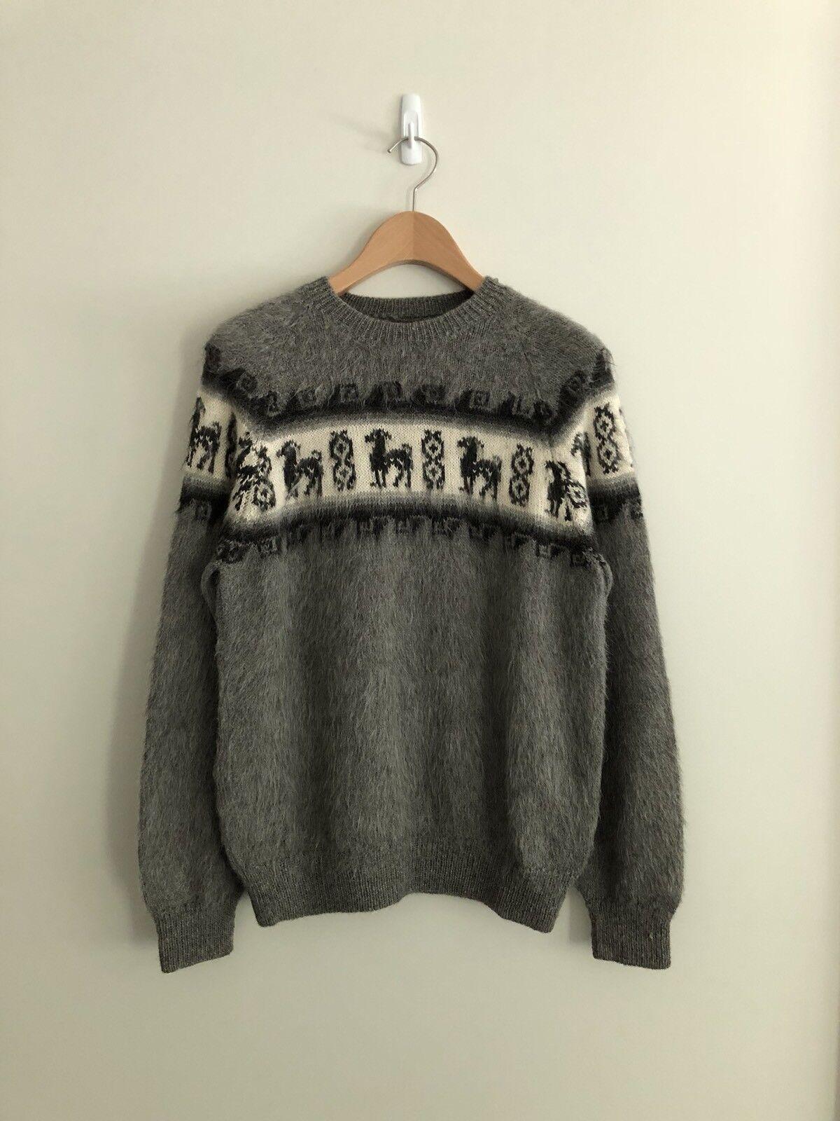 Vintage Men's Alpaca Mohair Sweater Größe M