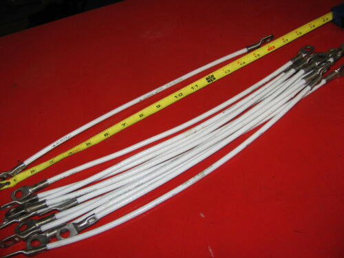 "New Aircraft Battery Cables Silver Plated Fine stran 16/"" Cessna Piper Sold each"
