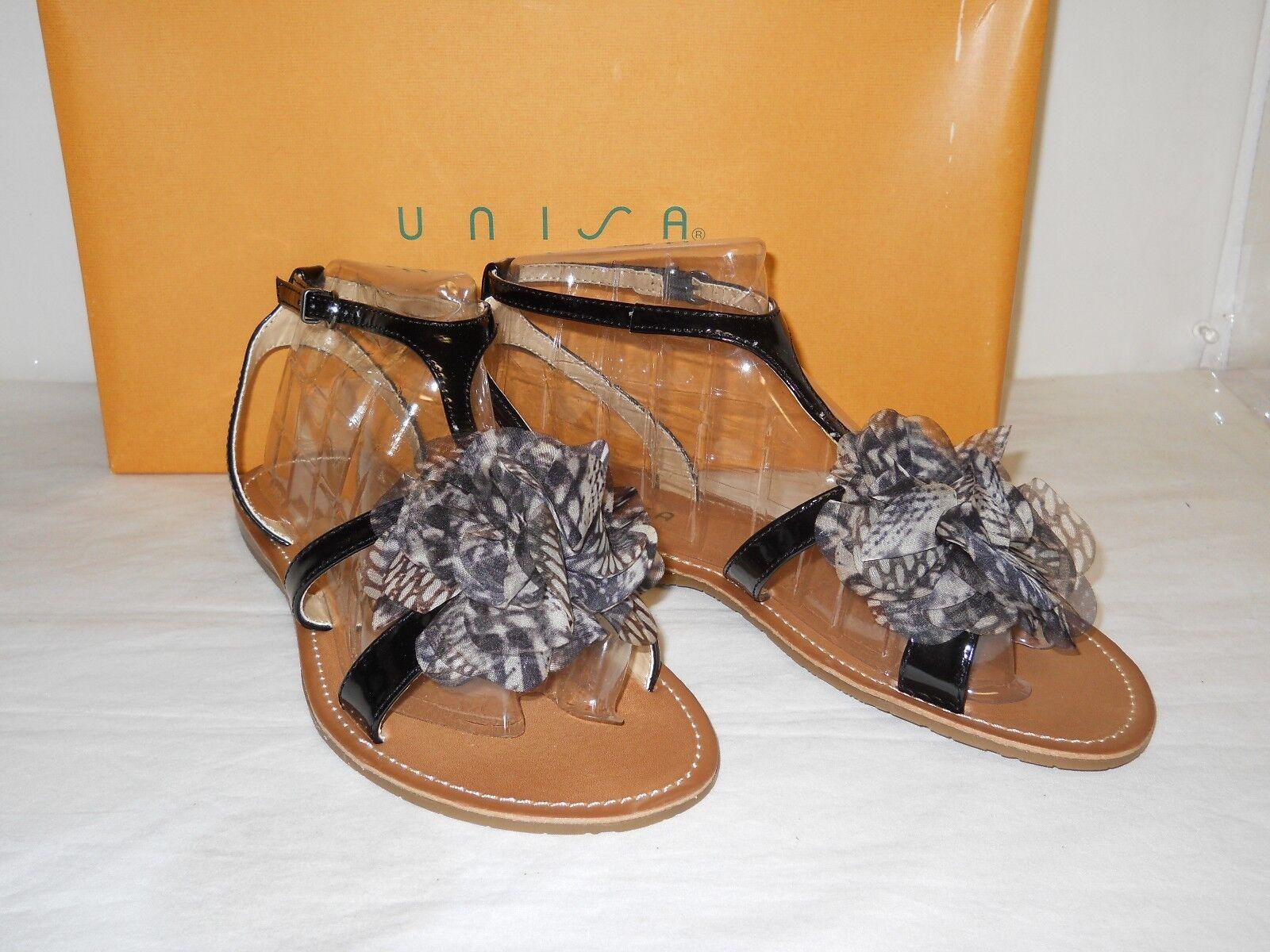 Unisa New Womens Jamila Black Sandals 6 M shoes NWB