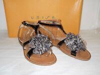 Unisa Womens Jamila Black Sandals 6 M Shoes Nwb