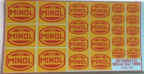Minol bis 1990 Decals 1:87 oder H0