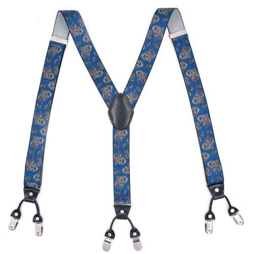 Men Dress Shirt Elastic Suspenders Adjustable Clip-on Belt Strap Formal Wedding