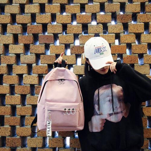 Women/'s Canvas Backpack Simple All-match High School Student Korean Shoulder Bag