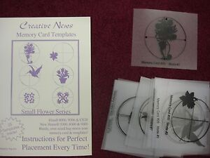 elna small flower series memory embroidery design card template ebay