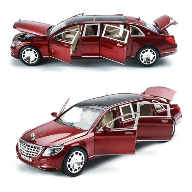 1:24 Mercedes Maybach S600 Diecast Model Car Light Sound Toy Limousine Kids Gift