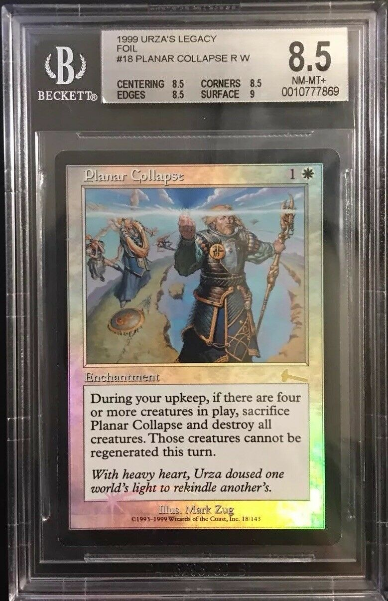 Planar Collapse FOIL - BGS 8.5 NM-MT+ - Urza's Legacy - MTG Legacy QUAD+
