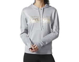 Image is loading Womens-Adidas-Metallic-Graphic-Pullover-Hoodie-Size-L- 5934631e62