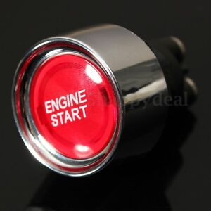 Universal-Car-Auto-Red-Engine-Ignition-Button-Starter-Push-Start-Power-Switc-FE