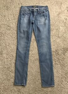 LUCKY-BRAND-Womens-Size-2-Charlie-Skinny-Denim-Blue-Jeans-33-034-Inseam-2-26
