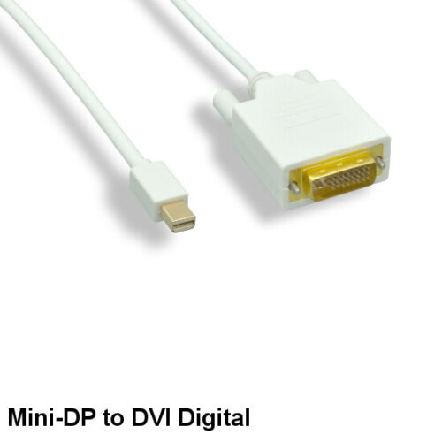 Kentek 10FT Mini DisplayPort to DVI Digital DVI-D Cable 32AWG Thunderbolt PC MAC