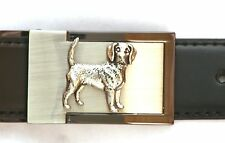 Beagle Belt Buckle and Leather Belt in Gift Tin Ideal Hunting Present